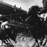 The finish of a race at the Moscow Hippodrome in the 1930s (photograph by Alexander Rodchenko via Moscow House of Photography)