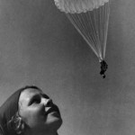 Parachuting was a craze in the 1930s Soviet Union and famous parachutists were widely celebrated (photograph by Abram Sterenberg via Moscow House of Photography)