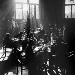 A worker's cafe in 1930s Moscow. (photograph by Arkadi Shayhet via Moscow House of Photography)